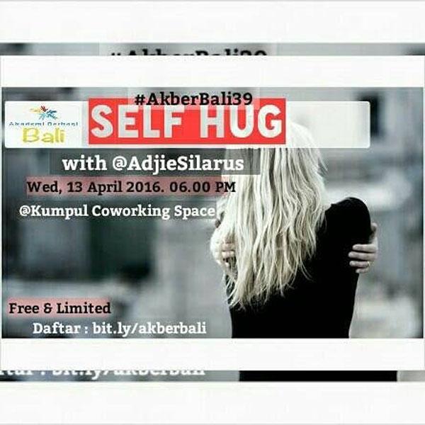 #AkberBali39 Self Hug with Adjie Silarus @AdjieSilarus
